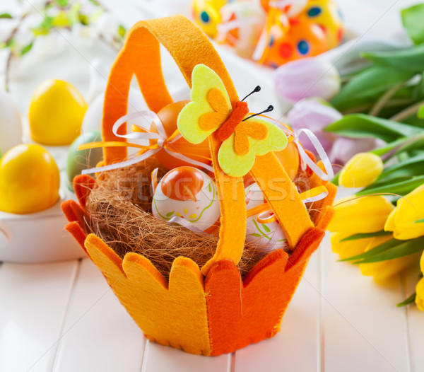 Easter still life with fresh tulips  Stock photo © brebca