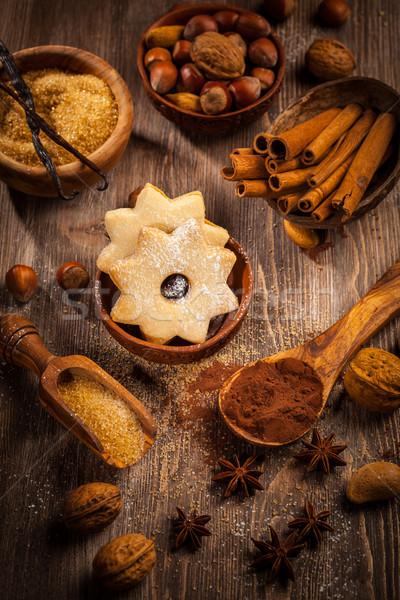 材料 スパイス クリスマス クッキー 木材 ストックフォト © brebca