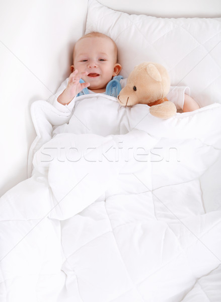 Baby with teddy Stock photo © brebca