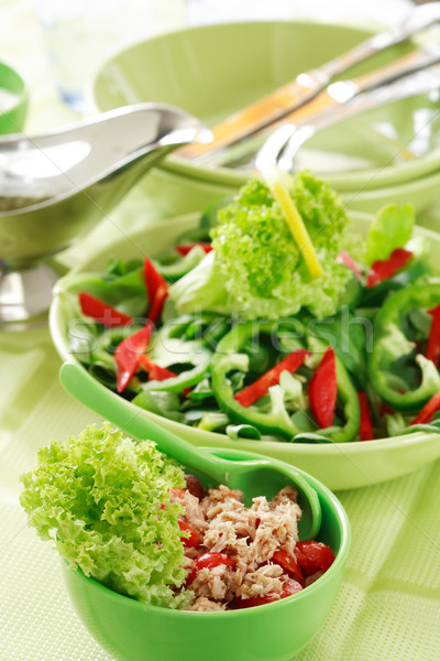 Salata sağlıklı gıda sağlık alan yeşil biber Stok fotoğraf © brebca