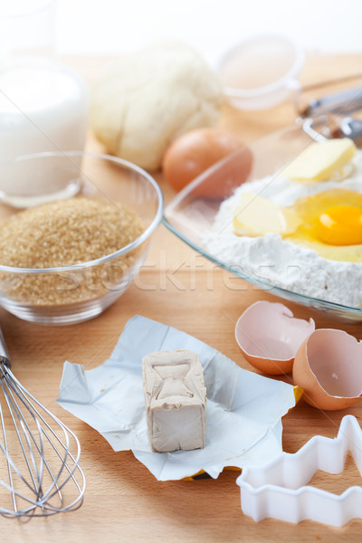 Stock photo: Yeast and baking ingredients