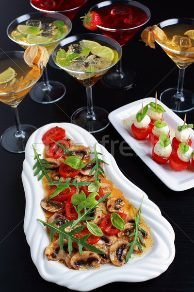 Appetizers with drinks for guests Stock photo © brebca