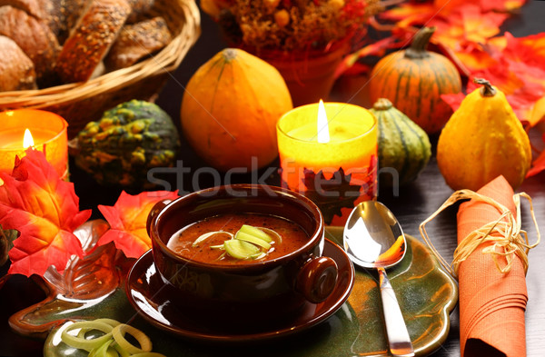 Goulash soup for Thanksgiving Stock photo © brebca
