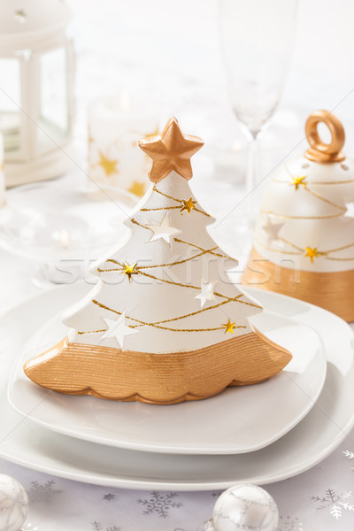 Festive table for Christmas Stock photo © brebca