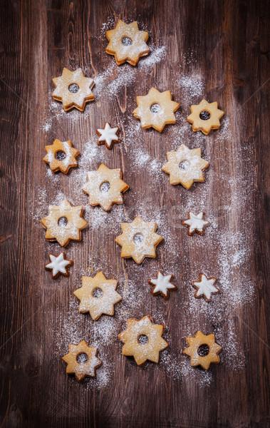 Homemade cookies in star shape Stock photo © brebca
