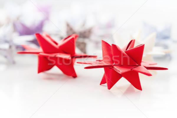 бумаги Рождества звезды звездой известный приход Сток-фото © brebca