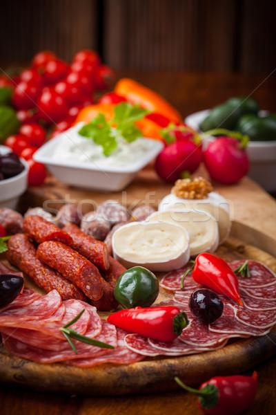 Antipasti legumes iogurte molho Foto stock © brebca