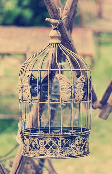Birdcage im vintage style Stock photo © brebca