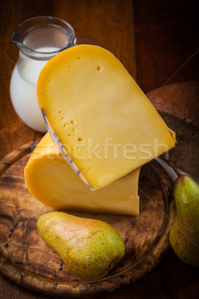 Cheese loaf with pears Stock photo © brebca
