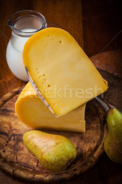 сыра буханка груши молоко обеда пшеницы Сток-фото © brebca