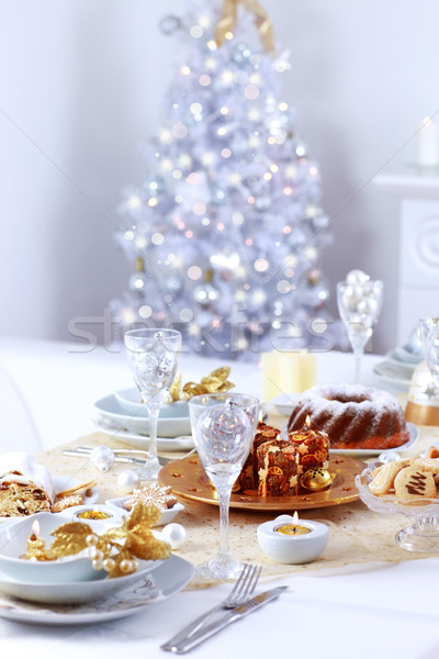 Place setting for Christmas Stock photo © brebca