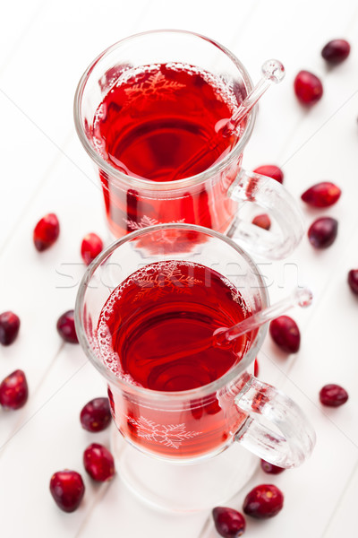 Bebida quente branco comida fruto vidro Foto stock © brebca
