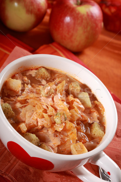 красный капуста суп кислая капуста здоровья Кука Сток-фото © brebca