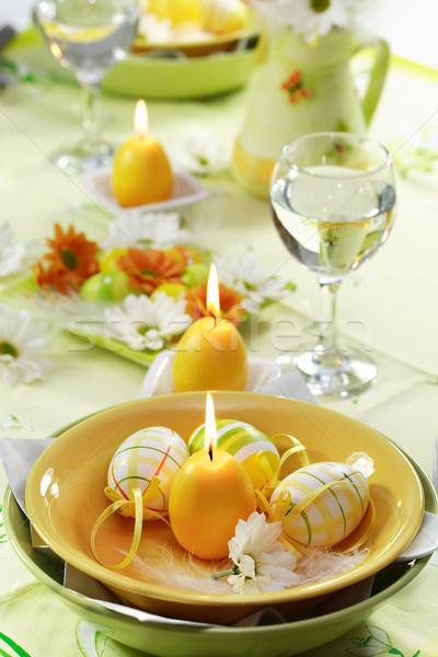 Easter table setting Stock photo © brebca