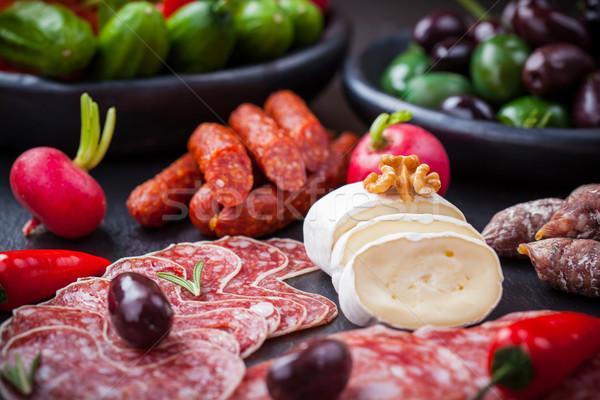 Queijo antipasti catering comida restaurante jantar Foto stock © brebca