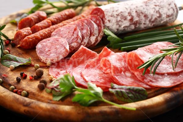 Foto stock: Jantar · catering · diferente · aperitivos · comida · vinho