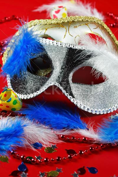 Carnaval pormenor máscara festa cara fundo Foto stock © brebca