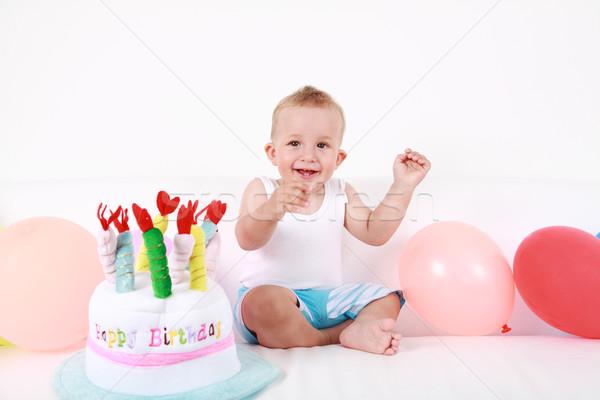 С Днем Рождения Cute мальчика наслаждаться рождения ребенка Сток-фото © brebca