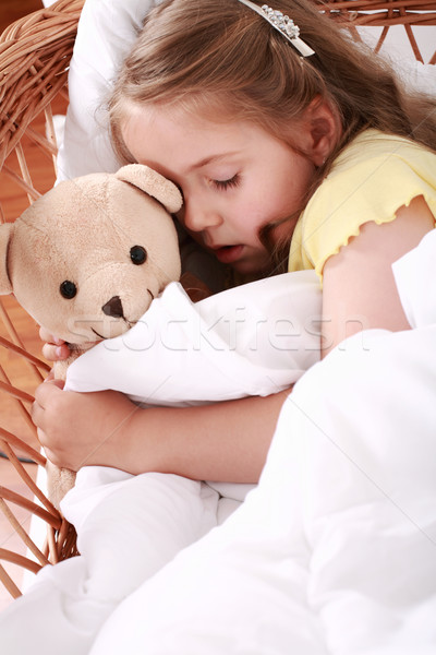 Sleeping child Stock photo © brebca