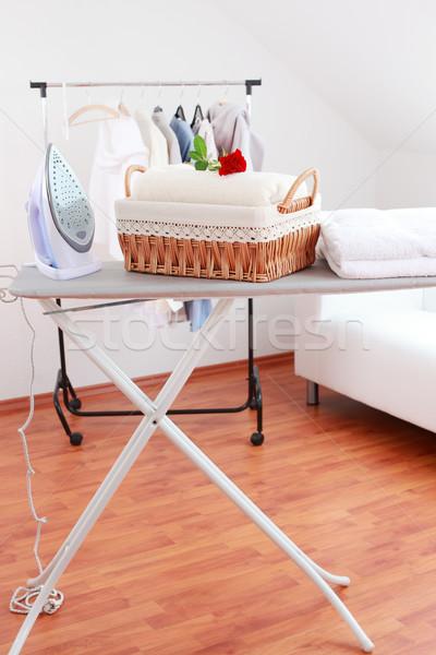 çamaşırhane gün sepet tahta oda Stok fotoğraf © brebca