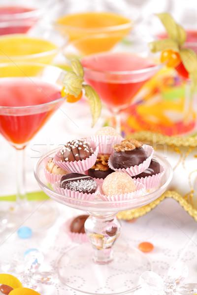 Parti tatlı doğum günü partisi karnaval içmek eğlence Stok fotoğraf © brebca