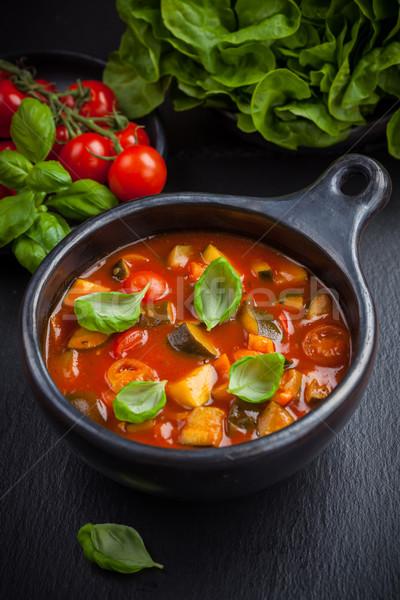 растительное тушеное мясо базилик красный черный жизни Сток-фото © brebca