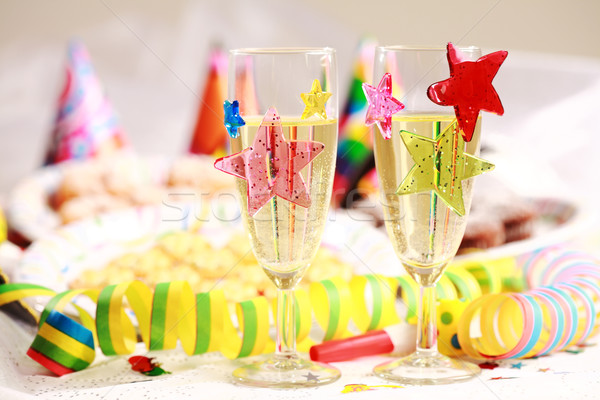 Karnaval parti yılbaşı doğum günü partisi cam Stok fotoğraf © brebca