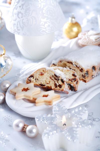 Noël still life délicieux gâteau cookies bougie Photo stock © brebca