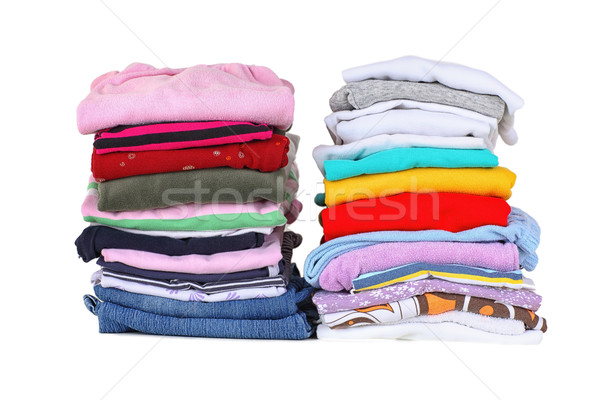 Cesta de la ropa lavandería bordo casa fondo Foto stock © brebca