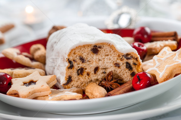 Christmas stollen with cookies and gingerbread Stock photo © brebca