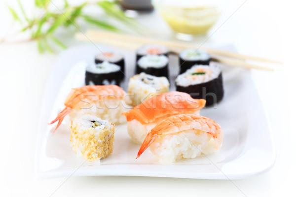 Sushi japans voedsel shot vis restaurant Stockfoto © brebca