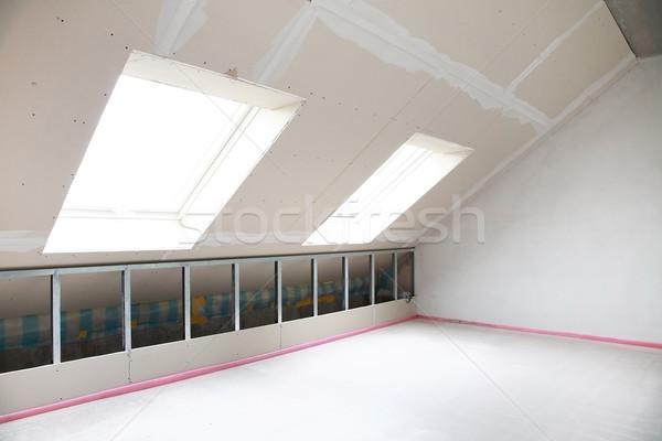 Pustym pokoju budowy ściany pokój wnętrza piętrze Zdjęcia stock © brebca