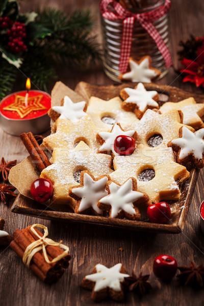 Maison cookies Noël commencer forme fleur Photo stock © brebca