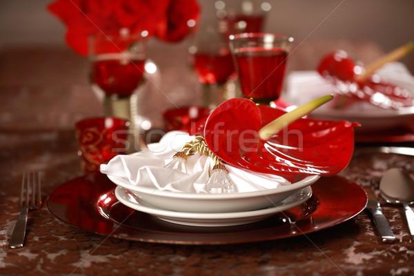 Lüks yer kırmızı beyaz Noel diğer Stok fotoğraf © brebca