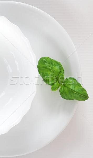 Verde vegetali bianco piatto salute impianto Foto d'archivio © brebca