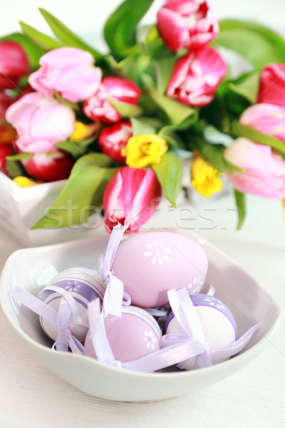 Easter eggs Stock photo © brebca