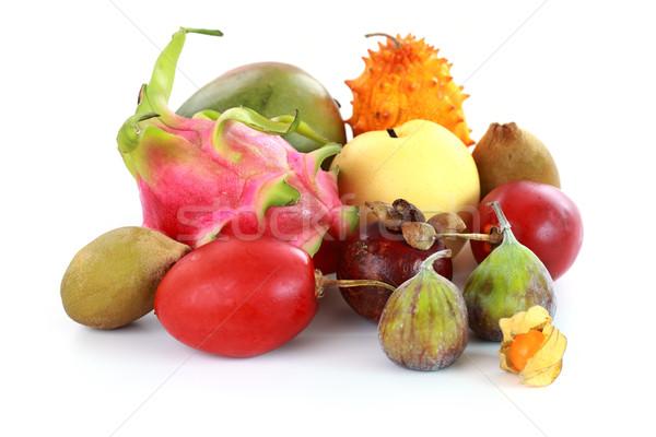 Egzotyczny owoce mangostan figa mango asian Zdjęcia stock © brebca