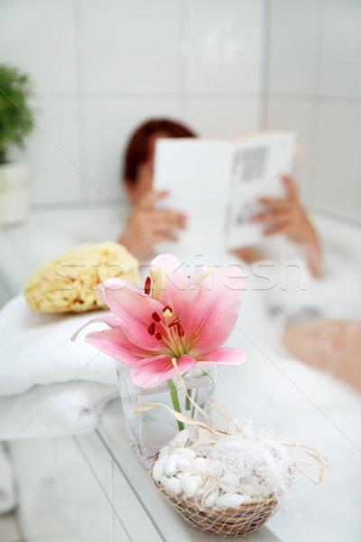 Taking a bath Stock photo © brebca