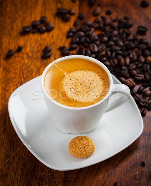 Eszpresszó csésze kávé ital reggeli fehér Stock fotó © brebca