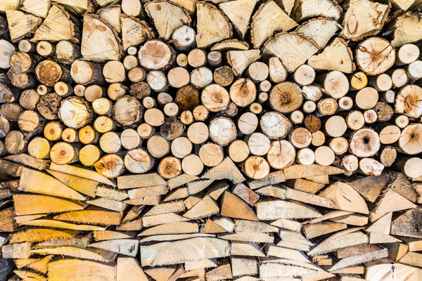 Pile of wood logs in the garden Stock photo © brebca