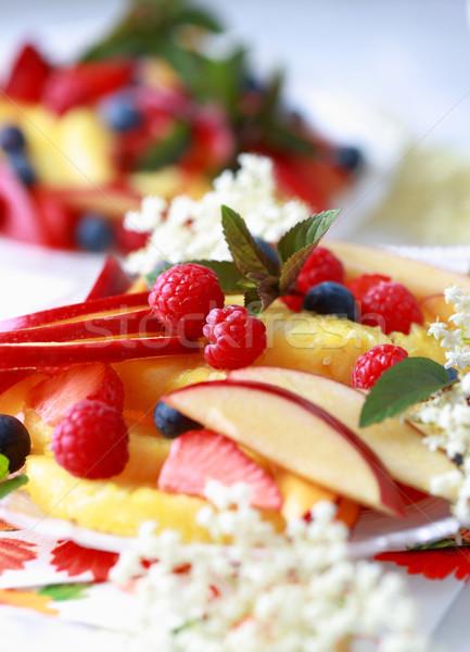 Zdjęcia stock: świeże · lata · owoce · puchar · kwiat · żywności
