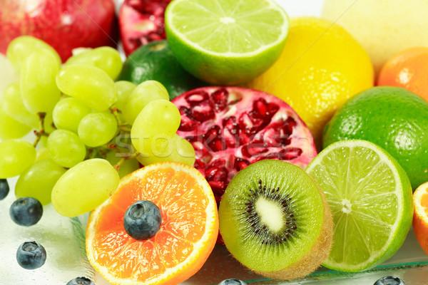 Meyve taze meyve cam turuncu kırmızı Stok fotoğraf © brebca