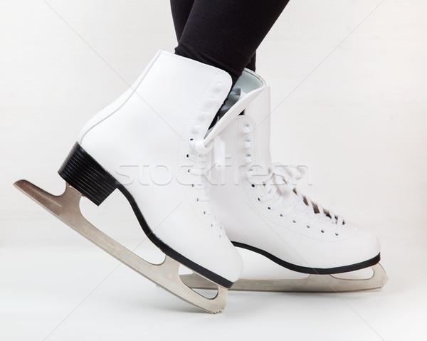 подробность льда коньки Dance тело фитнес Сток-фото © brebca
