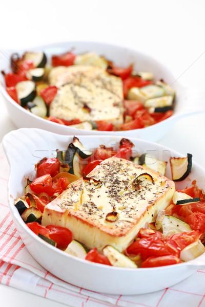 Sült fetasajt zöldségek sajt tej olaj Stock fotó © brebca