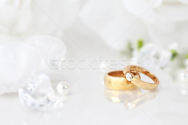 結婚指輪 結婚式 静物 美しい リング ストックフォト © brebca