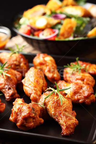 Hot chicken wings Stock photo © brebca