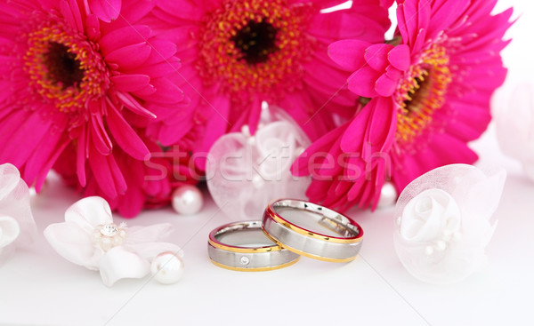 Deux alliances mariage still life belle or Photo stock © brebca