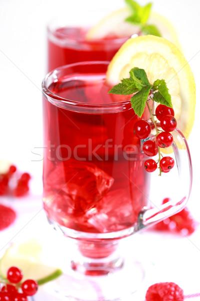 Verano té helado limonada frescos frutas Foto stock © brebca