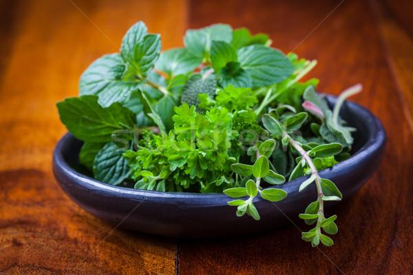 Herbs from garden Stock photo © brebca