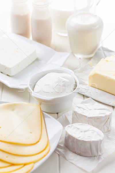 Assortment of dairy products Stock photo © brebca